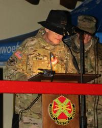 U.S. Soldiers attend Camp Aachen tree lighting