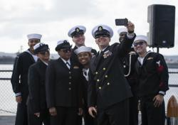 Sailors Onboard USS Midway