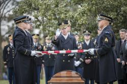 Military Funeral Honors with Funeral Escort for U.S. Army Capt. Andrew Ross in Section 60