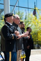 Nevada National Guard Chaplain Troy Dandrea and Other Religious Leaders at the City of Las Vegas National Prayer Ceremony