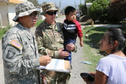 Information operations and military intelligence Soldiers connect with the Huehuetenango, Guatamala, community during Beyond the Horizon 2019
